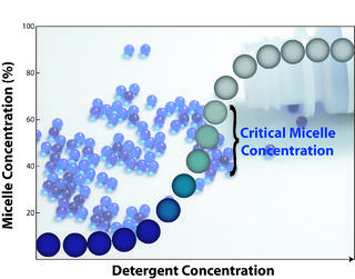 Determine detergent critical micelle concentrations